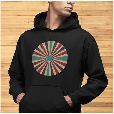 Color Splash Circle on Men's Hoodie - Hoodie