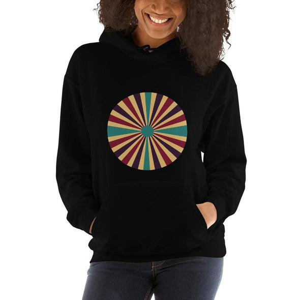 Color Splash Circle on Woman's Hoodie - Black / S - Hoodie