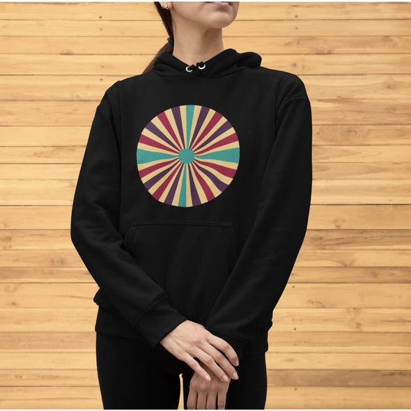 Color Splash Circle on Woman's Hoodie - Hoodie