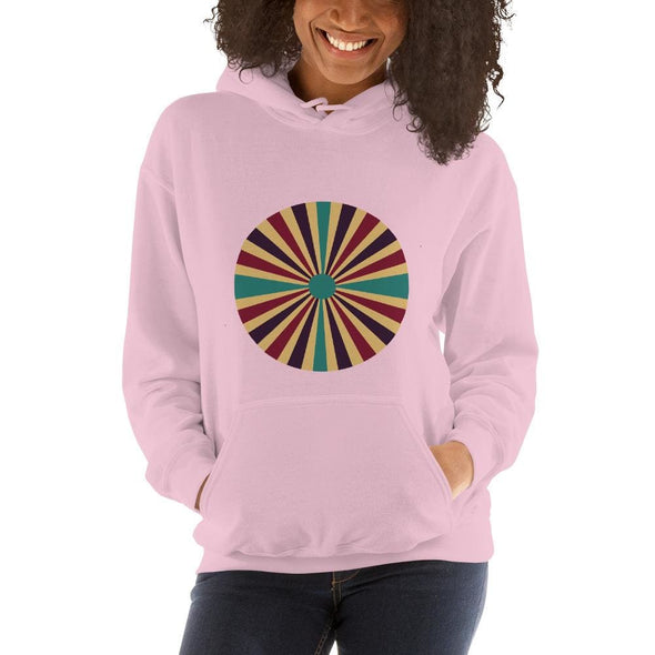 Color Splash Circle on Woman's Hoodie - Light Pink / S -