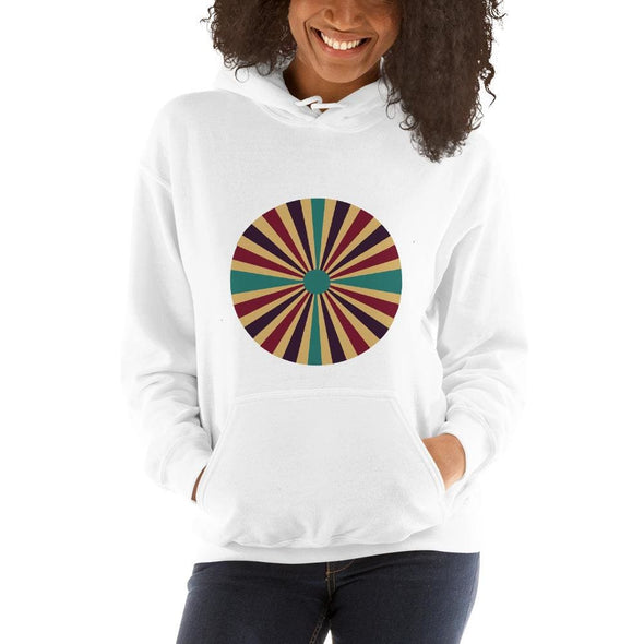 Color Splash Circle on Woman's Hoodie - White / S - Hoodie