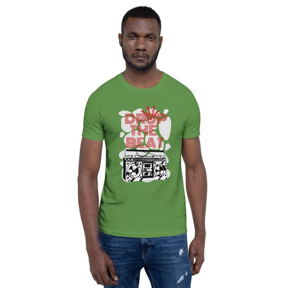 Drop the Beat Short-Sleeve T-Shirt - Leaf / S - T-shirts