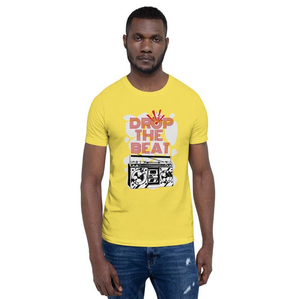 Drop the Beat Short-Sleeve T-Shirt - Yellow / S - T-shirts