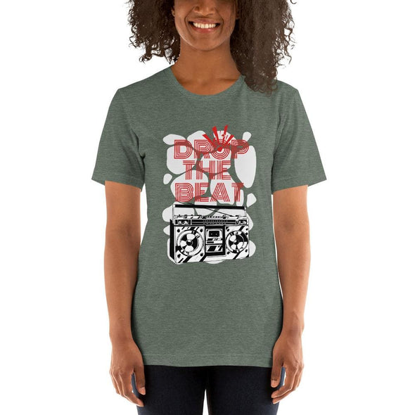 Drop the Mic Short-Sleeve T-Shirt - Heather Forest / S -
