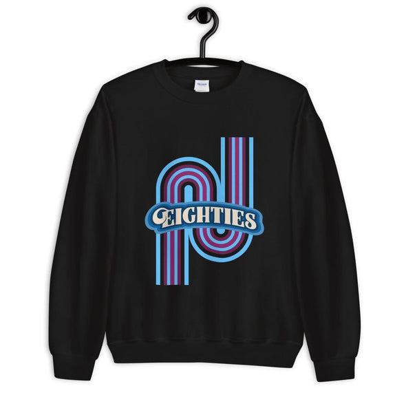 Eighties Design on Sweatshirt - Black / S - Sweatshirt