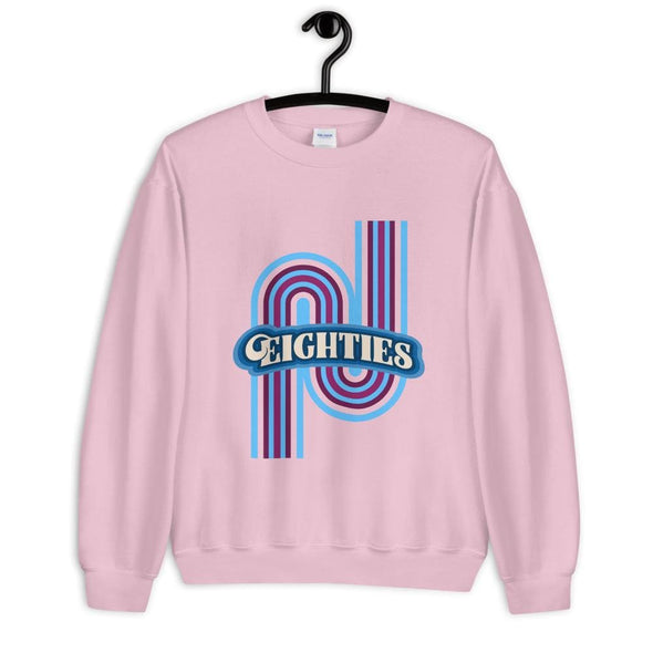 Eighties Design on Sweatshirt - Light Pink / S - Sweatshirt