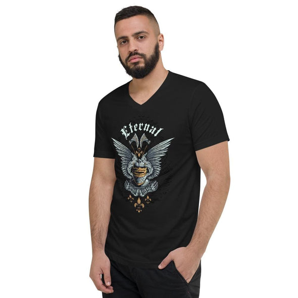 Eternal Elaborate Design on V-Neck T-Shirt - T-shirts