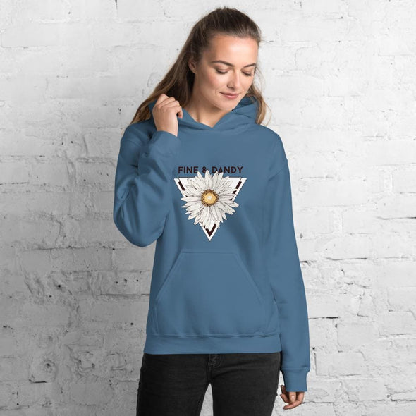 Fine & Dandy Design on Women's Hoodie - Indigo Blue / S -