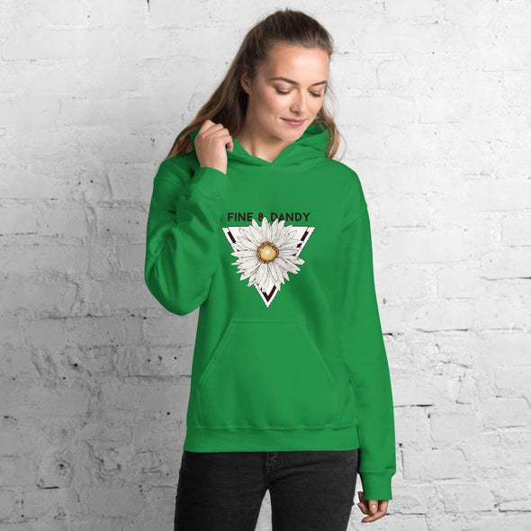 Fine & Dandy Design on Women's Hoodie - Irish Green / S -
