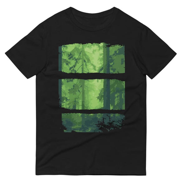 Forest Design on Short-Sleeve T-Shirt - Black / S - T-shirts