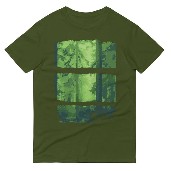 Forest Design on Short-Sleeve T-Shirt - City Green / S -