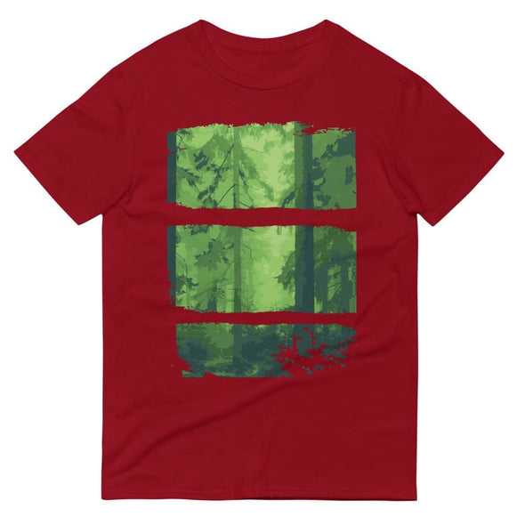 Forest Design on Short-Sleeve T-Shirt - Independence Red / S