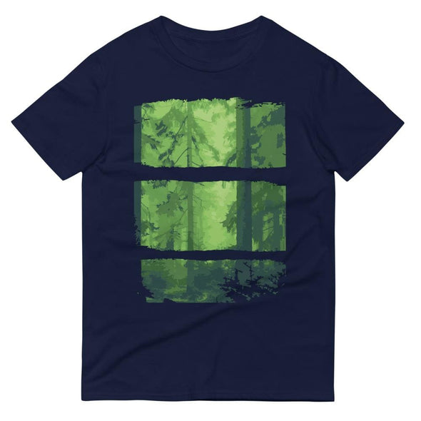 Forest Design on Short-Sleeve T-Shirt - Navy / S - T-shirts