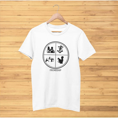 Friendship Design on Light Colored T-Shirt - T-shirts