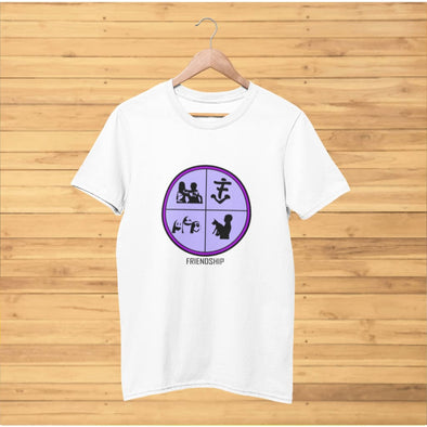Friendship Purple Design on T-Shirt - T-shirts