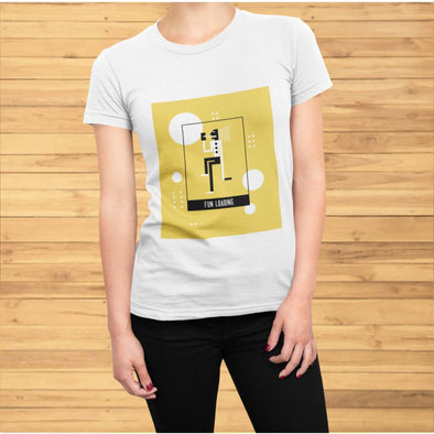 Fun Loading Yellow Design on Short-Sleeve T-Shirt - T-shirts