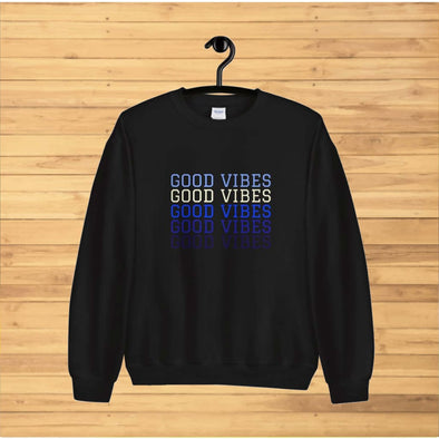 Good Vibes Blue Text Sweatshirt - Sweatshirt