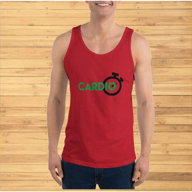 Green Cardio Design on Men's Tank Top - Tank Top