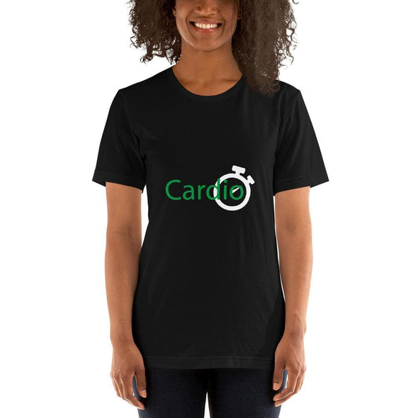 Green Cardio Design on Women's T-Shirt - Black / S -