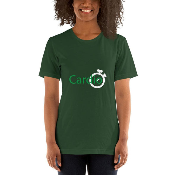 Green Cardio Design on Women's T-Shirt - Forest / S -