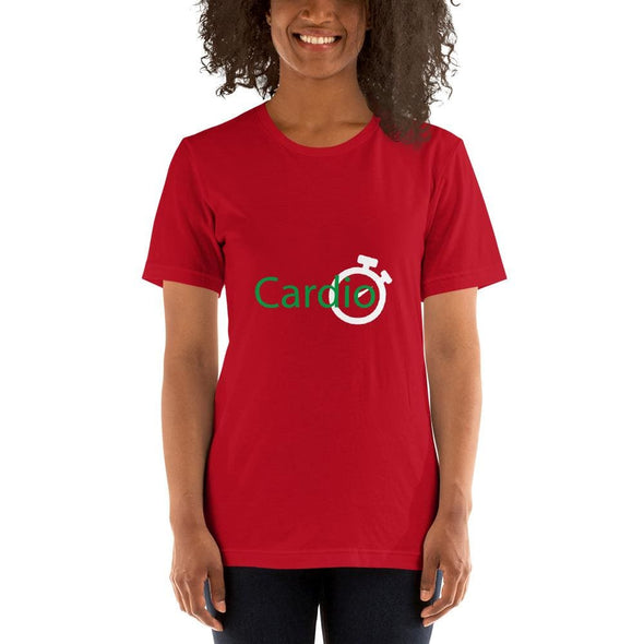 Green Cardio Design on Women's T-Shirt - Red / S - T-shirts