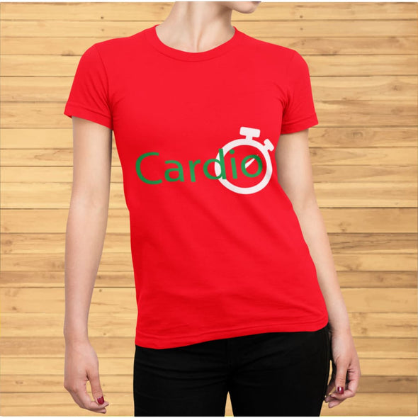 Green Cardio Design on Women's T-Shirt - T-shirts