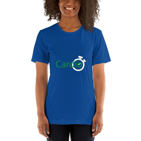 Green Cardio Design on Women's T-Shirt - True Royal / S -