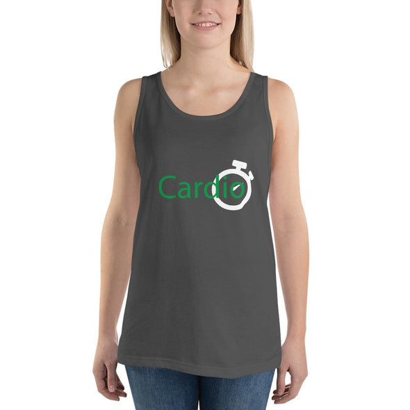 Green Cardio Design on Women's Tank Top - Asphalt / S - Tank