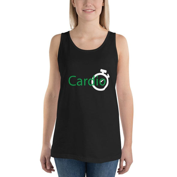 Green Cardio Design on Women's Tank Top - Black / S - Tank
