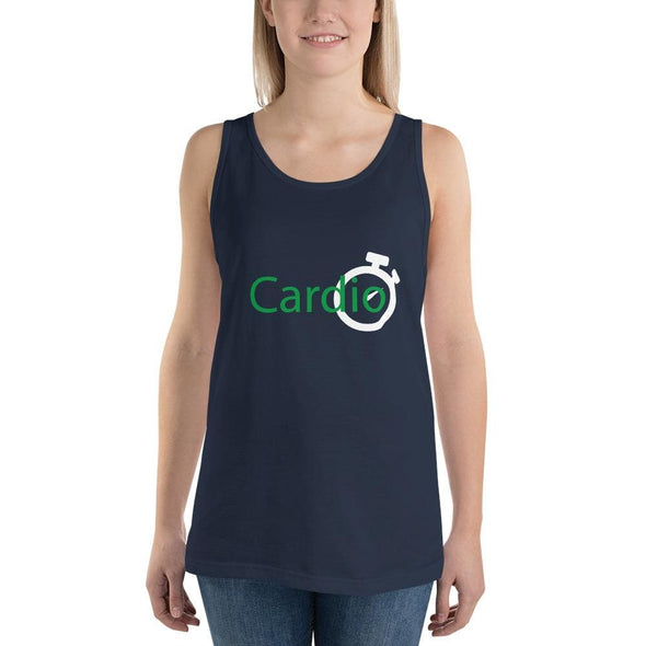 Green Cardio Design on Women's Tank Top - Navy / S - Tank