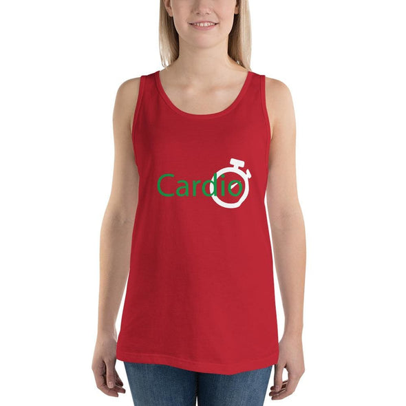 Green Cardio Design on Women's Tank Top - Red / S - Tank Top