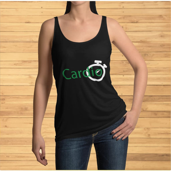 Green Cardio Design on Women's Tank Top - Tank Top