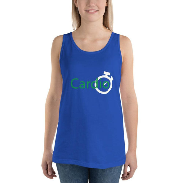 Green Cardio Design on Women's Tank Top - True Royal / S -