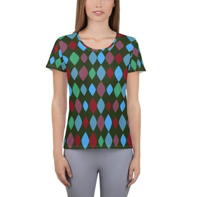 All-Over Print Women's Athletic T-shirt - XS