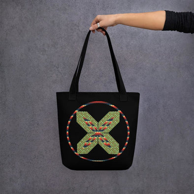 Green X Design Tote bag - Black - Tote Bag