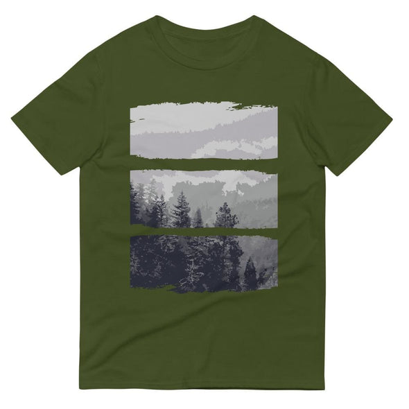 Grey Forest Design on Short-Sleeve T-Shirt - City Green / S