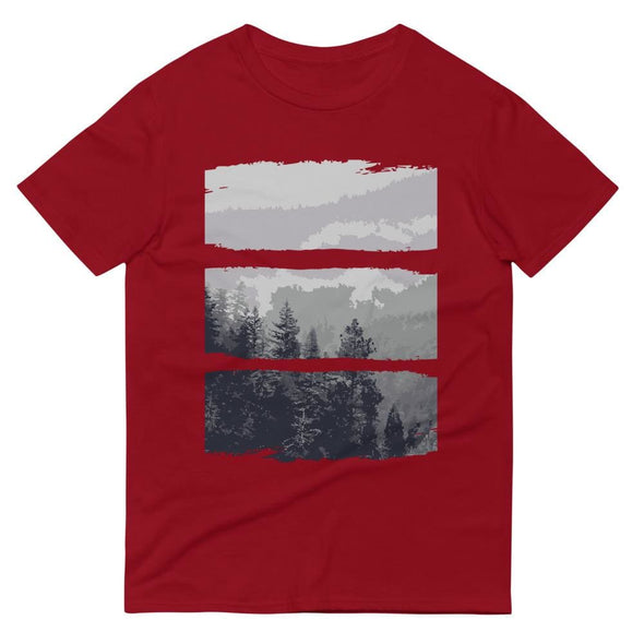 Grey Forest Design on Short-Sleeve T-Shirt - Independence