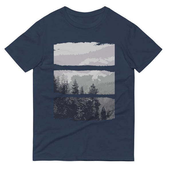 Grey Forest Design on Short-Sleeve T-Shirt - Lake / S -
