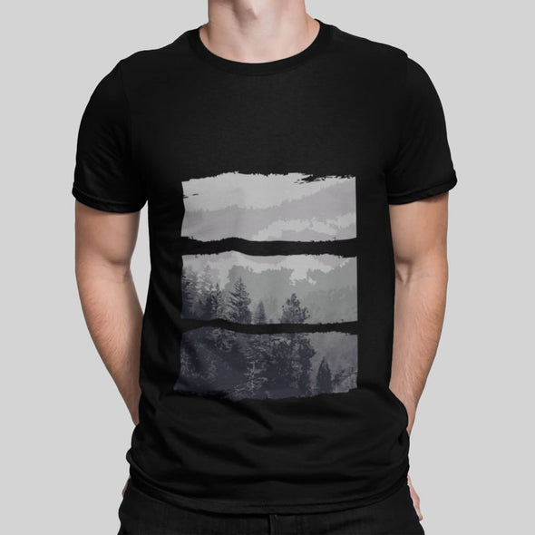Grey Forest Design on Short-Sleeve T-Shirt - T-shirts