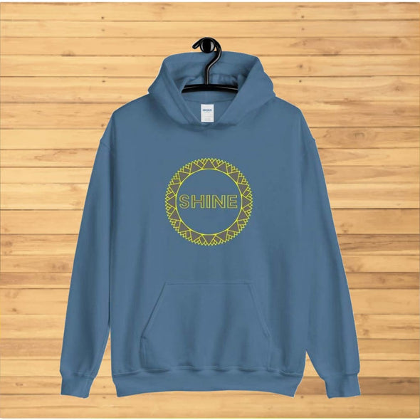 Grey Shine Design on Hoodie - Hoodie