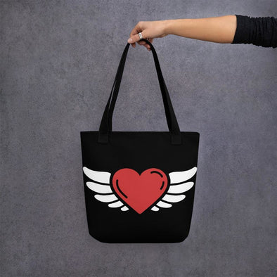 Heart Design Tote bag - Black - Tote Bag