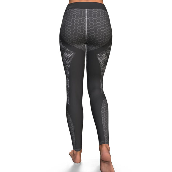Hexagon Grey Leggings - Leggings