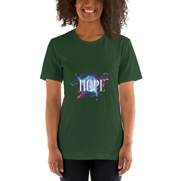 Hope Design on Short-Sleeve T-Shirt - Forest / S - T-shirts