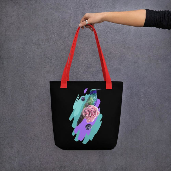 Hummingbird Design Tote bag - Red - Tote Bag