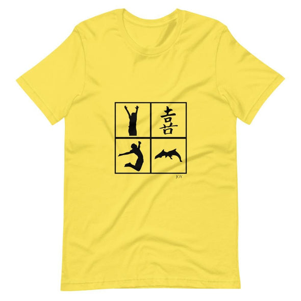 Joy Art Design on Light Colored T-Shirt – Ref 010 - Yellow /