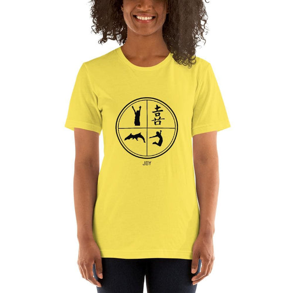 Joy Art Design on Light Colored Women's T-Shirt – Ref 027 -