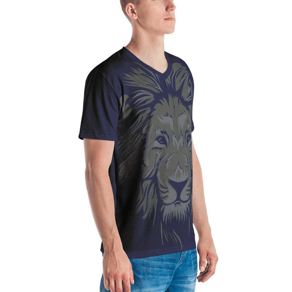 Lion Print on Navy T-Shirt - T-shirts