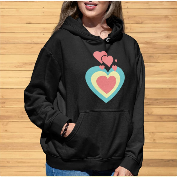 Love Hearts Design on Hoodie - Hoodie