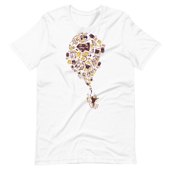 Mexican Art Design on Light Colored T-Shirt - White / S -