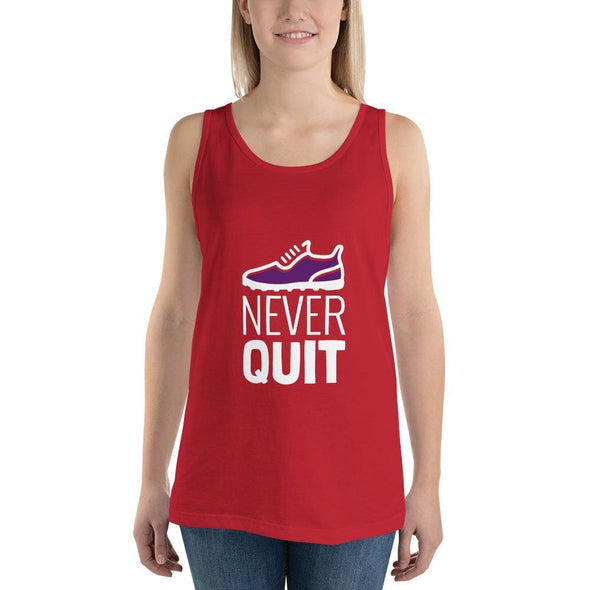 Never Quit Design on Women's Tank Top - Red / XS - Tank Top